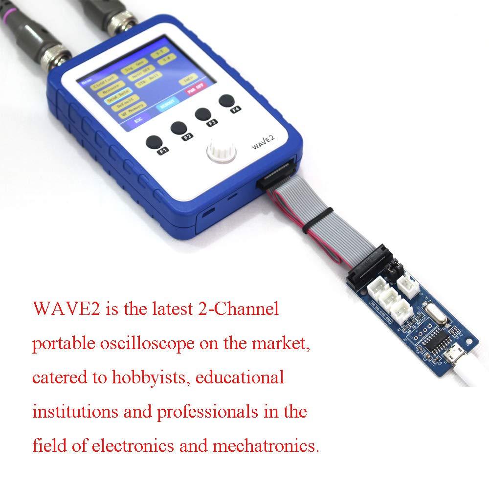DIY WAVE2 2.4 Handheld Pocket-Size Digital Oscilloscope Touch Screen Dual Channel Digital Storage Oscilloscope Kit Digital Oscilloscope,Baugger