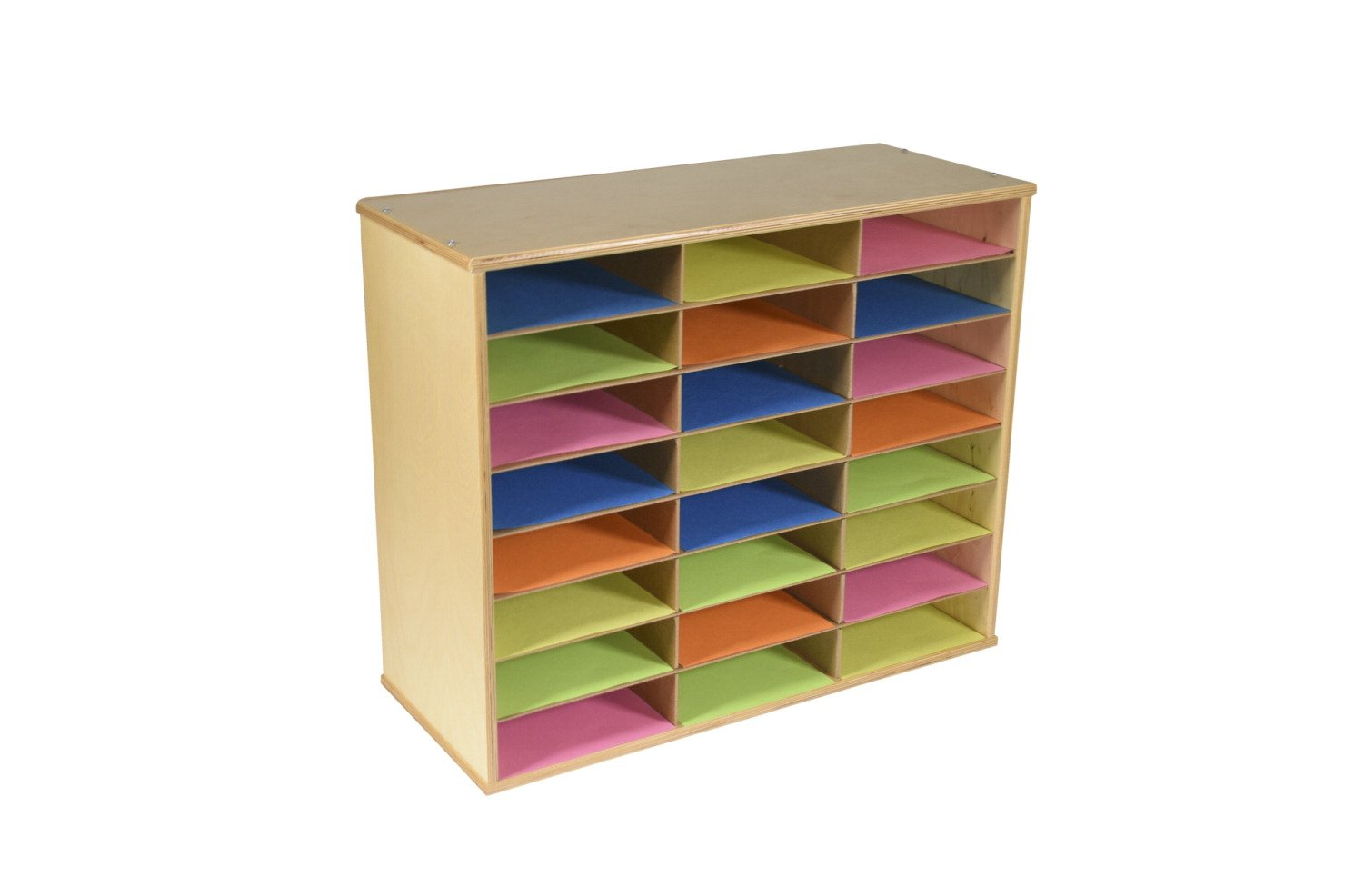 Classroom Select Storage Organizer, 29 x 11-7/8 x 24 Inches, Natural Wood Exterior.
