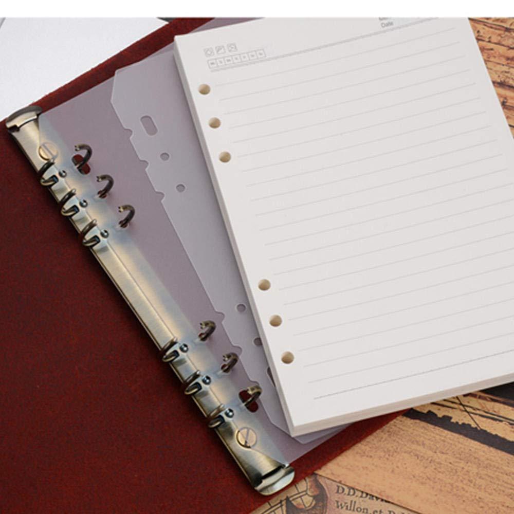 Libro De Mano Serrale Libreta De Hojas Sueltas Manual Retro 3 Oficina De Negocios Libreta A6