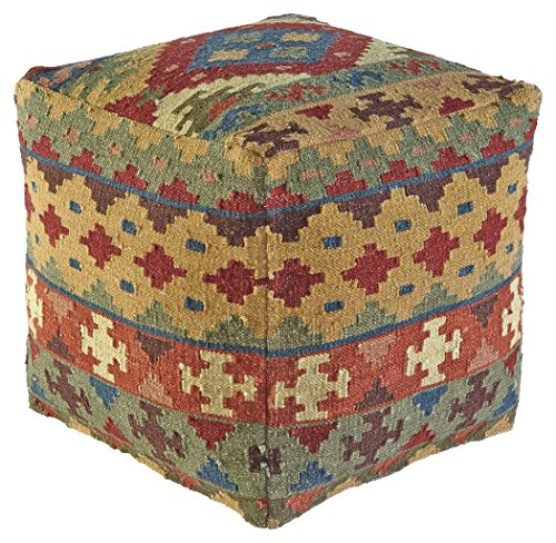 Signature Design by Ashley A1000208 Adolfo Pouf, Multicolor by Signature Design by Ashley
