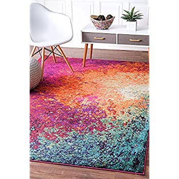 """nuLOOM Donya Abstract Rug, 5' 3"""" x 7' 7"""", Multicolor"""