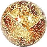 Glass Mosaic Ball in Orange/Amber (Medium)