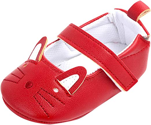 Infant Baby Girls Shoes for Kids Soft Sole Leather Cute Cartoon Cat Summer Casual Shoes