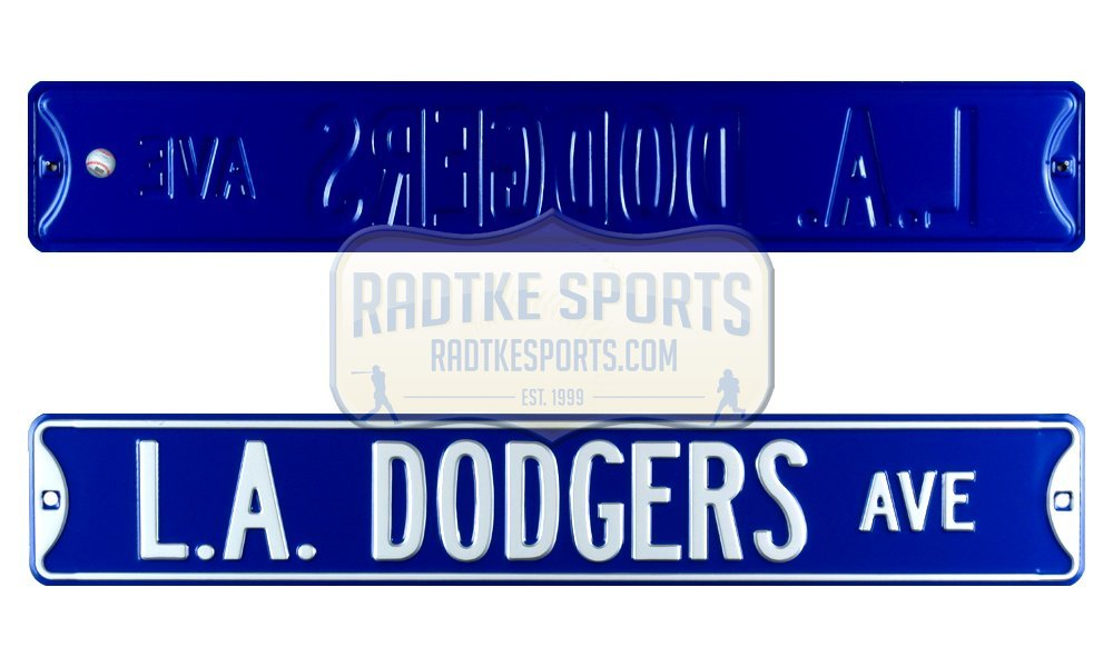 Los Angeles Dodgers Avenue Officially Licensed Authentic Steel 36x6 Blue & White MLB Street Sign