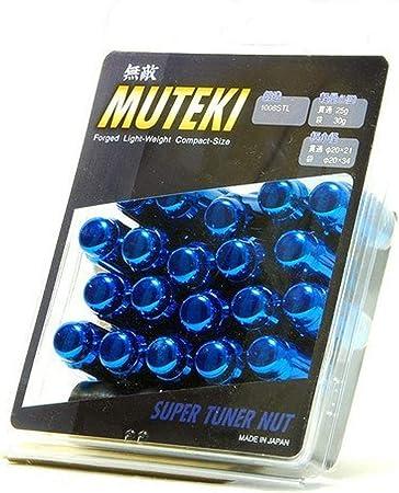 MUTEKI SPLINE OPEN-END LUG NUT NUTS 12x1.50 1.5 FOR MAZDA//MITSUBISHI CHROME