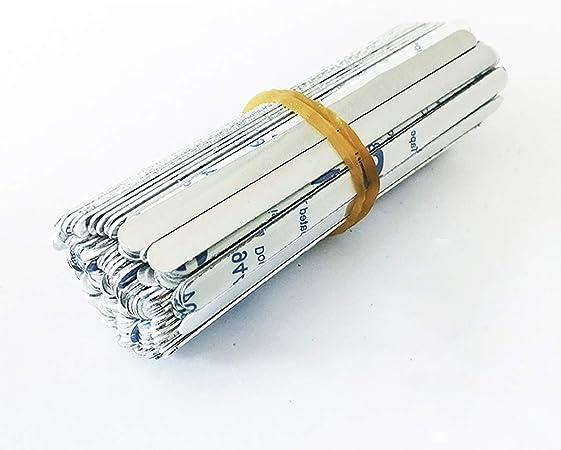 Comprar 100 Pcs Clip para Puente de Nariz,90mm, Aluminio,Nariz Puente Tira, Metal para Puente de Nariz,Soporte para puente de Nariz,Alambre de Nariz Flexible para DIY Fabricación Manualidades