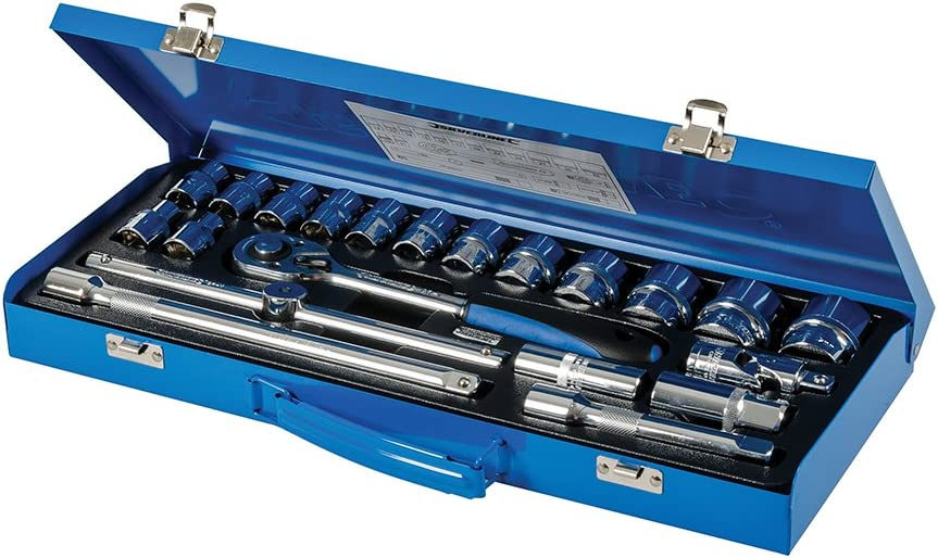 Socket 1//2 Drive Deep Metric 32mm Silverline Tools