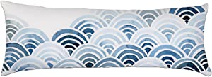 Alicia Haines Home Decorative Pillow Cover Cotton Long Body Pillow Case 20x54 inch (Light Blue)