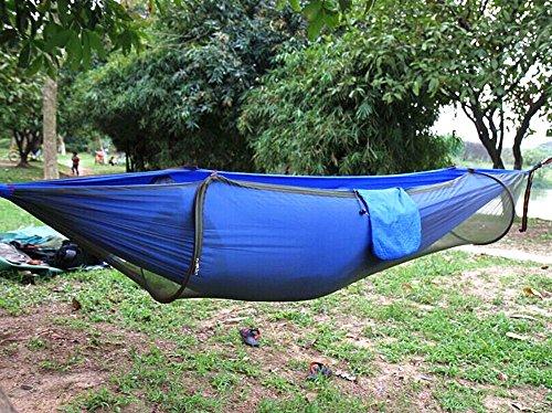 Amazon.com: Camping Hammock,Topist Hammock Tent Pop Up Mosquito Net  Ultralight Durable Parachute Fabric Hammock for Outdoor,Beach, Hiking,  Traveling, ... - Amazon.com: Camping Hammock,Topist Hammock Tent Pop Up Mosquito