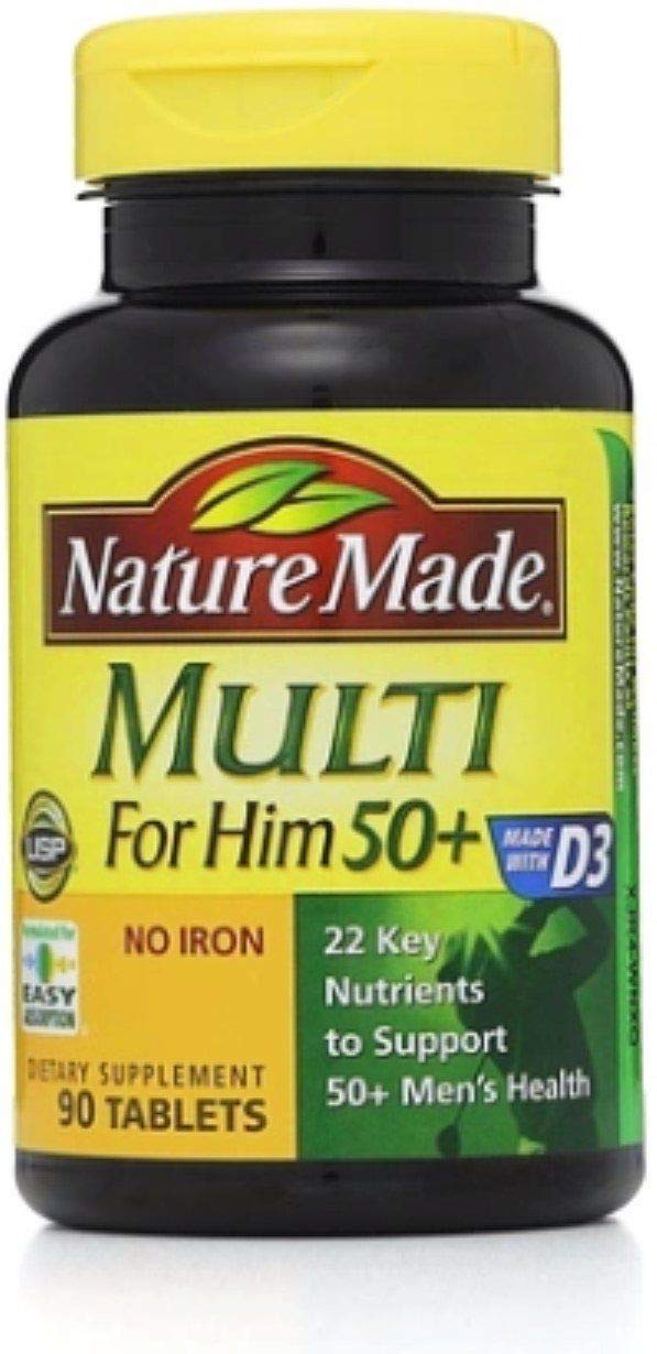 Nature Made Multi for Him 50 Dietary Supplement Tablets 90 ea Pack of 4
