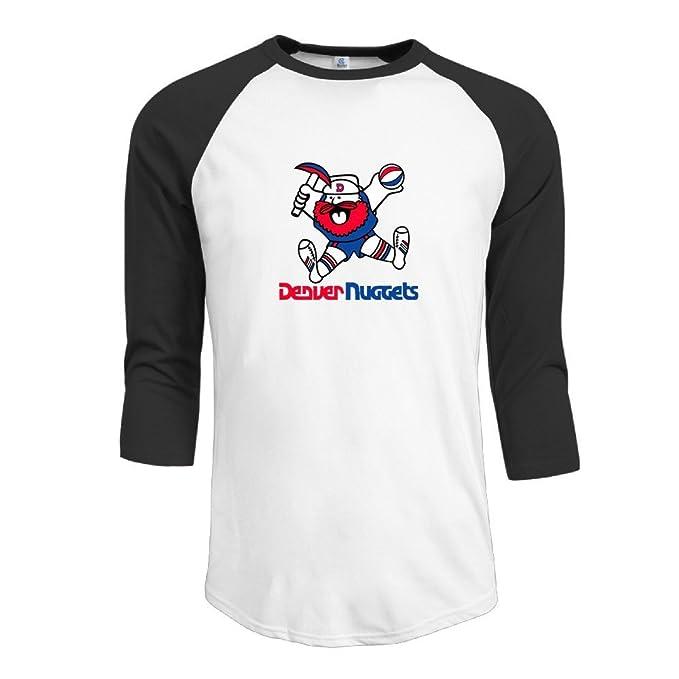 4ec00627c Hombre Denver Nuggets raglanâ Tee manga media Camisetas  Amazon.es  Ropa y  accesorios