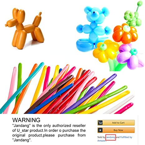 200 pcs Long Animal Tying Making Balloons Twist Latex Balloon For Birthday Party