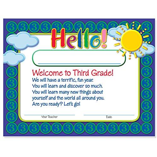 - Welcome to Third Grade Certificates 50 Pack | Elementary School Classroom Supplies for Teachers | By Teacher Peach