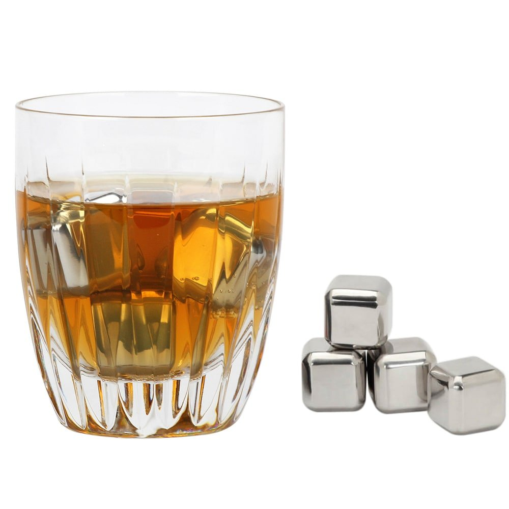 SG Global VinoNinja Silver Stainless Steel Chilling Ice Cubes