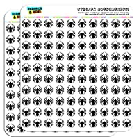 "Spider Black Widow 1/2"" (0.5"") Planner Calendar Scrapbooking Crafting Stickers"