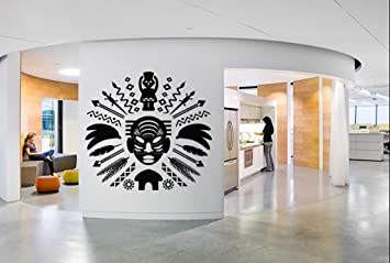 Amazon Wall Decal Sticker African Warrior Face Mask Tribal Girl