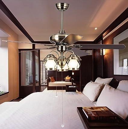 colorLED Europea lujo Ventilador de techo con luz envejecido ...