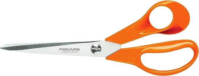 Fiskars Tijeras de jardín S90, Longitud: 21 cm, Clásicas, Naranja, 1001539