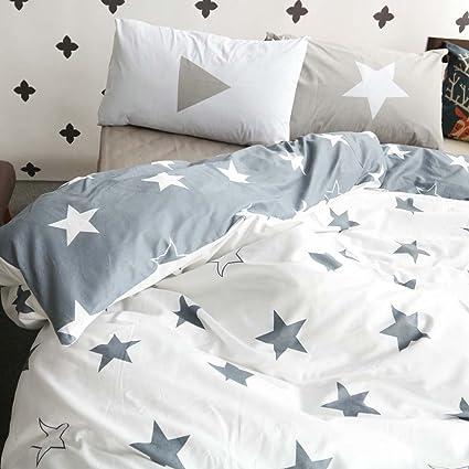 Amazon.com: BuLuTu Kids Bedroom Five-pointed Stars Reversible Cotton ...
