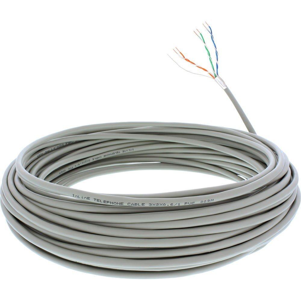 InLine 69976C Verlegen Telefon-Kabel 6-adrig 3 x 2 x: Amazon.de ...