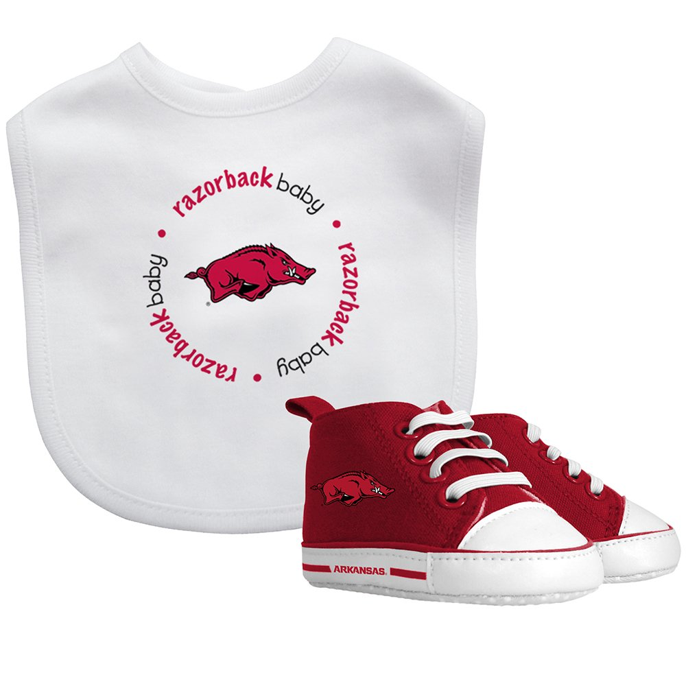 NCAA Arkansas Razorbacks Bib & Prewalker Baby Gift Set