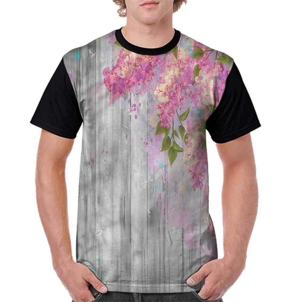 Classic T-Shirt,Watercolor Lilac Blossom Fashion Personality Customization