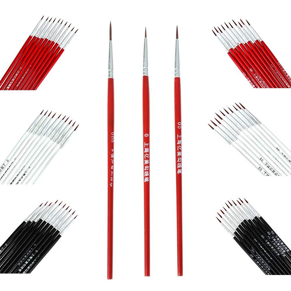 Timegoing Juego de 50 Pinceles de Nailon para Pintura acr/ílica al /óleo Acuarela
