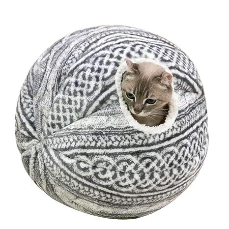 MUJING Esfera Gato Cama Cueva Dormir Profundamente Pequeña Casa De Perro Creativa Cálida Mascotas Nido Linda