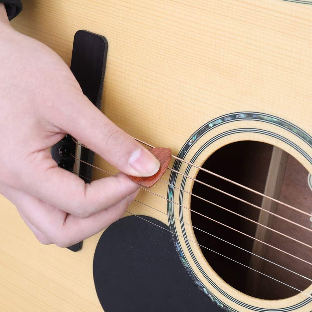 Festnight Plettri per chitarra in legno Accessori per chitarra Strumento musicale per strumento 3mm Spessore per chitarra professionale