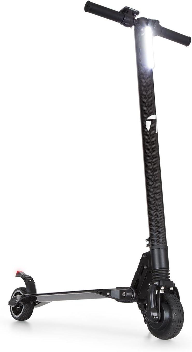 Takira Sc8ter Carbon Patinete eléctrico - E-Scooter, Plegado fácil, Faro LED, Pantalla LCD, 28 km autonomía, 22 km/h, Carbono Ultra Ligero