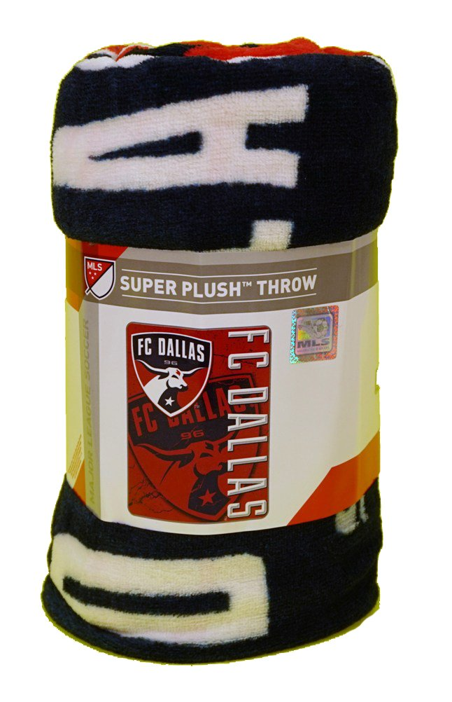 "The Northwest Company MLS Fc Dallas Officially Licensed Techno Micro Raschel Throw Towel, 46"" x 60"", Multicolor"