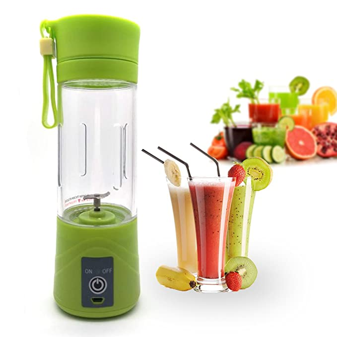 atongm Juicer Cup,Orange Lemon Citrus Fruit Mixing Machine, Portable Personal Size Usb Electric Rechargeable Mixer, Blender, Water Bottle(Green)