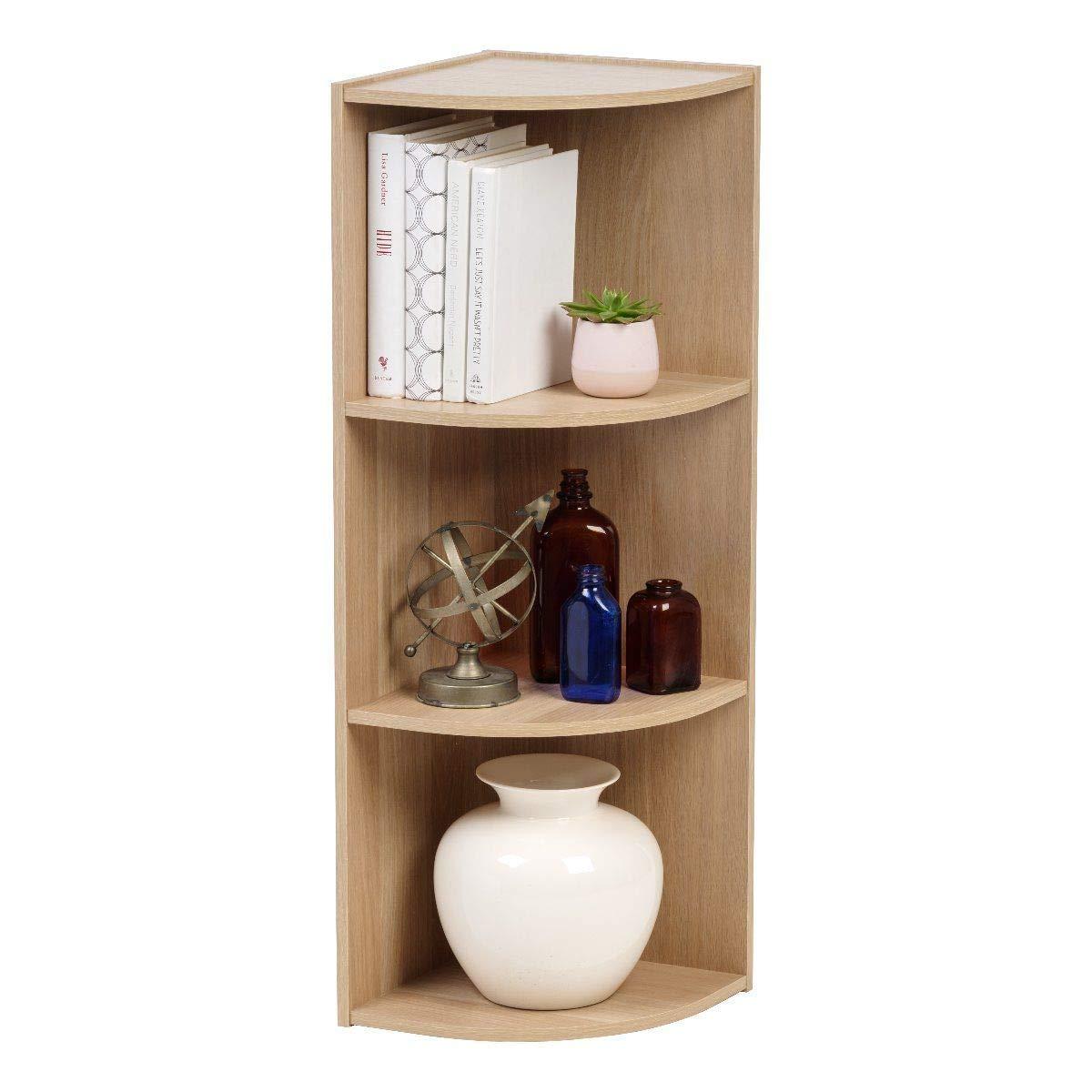 beige Iris Ohyama Ripiani ad angolo 3 nicchie // 3 scaffali in legno 29 x 29 x 87,2 cm Corner Shelf CX-3C