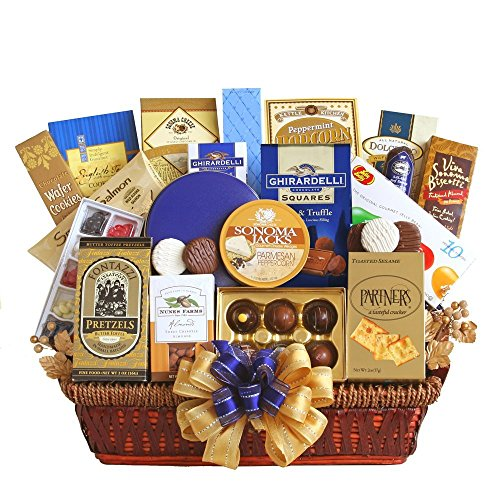 Regal Gourmet Gift Basket | Meat, Cheese, Crackers, Cookies, Chocolate and More (Birthday Gift Baskets For Husband)