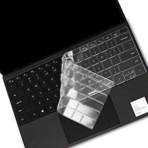 i-Tensodo Keyboard Cover for Ultra Thin Keyboard Cover for 2020 Dell New XPS 13 9300 13.4 inch Laptop Keyboard Cover Protective Skin, Dell XPS 13 9300 Accessories, US Layout-TPU