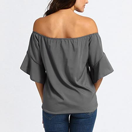 Big Promotion! Clearance Sale! Seaintheson Womens Blouses Striped Off Shoulder Bell Sleeve Shirt Tie Knot Casual Tops: Amazon.com: Grocery & Gourmet Food