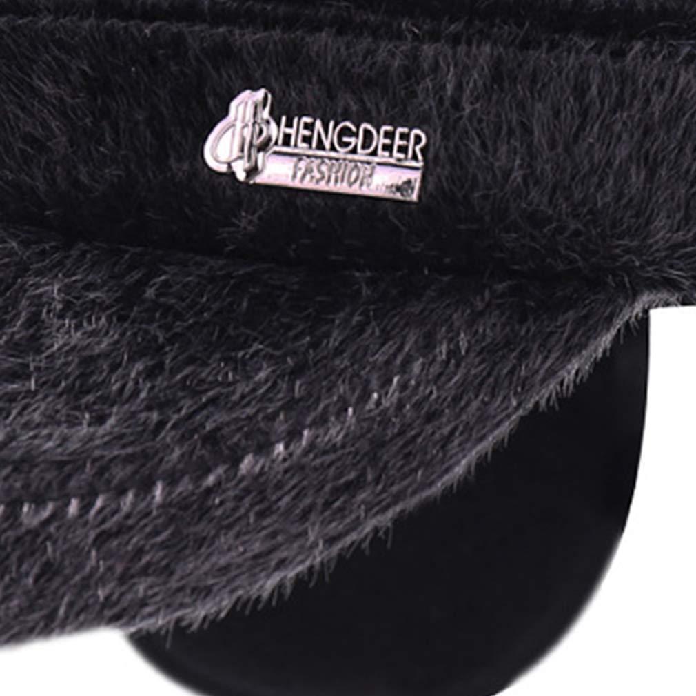 Culer Gorra de b/éisbol caliente del invierno de Ajustable imitaci/ón de piel de vis/ón sombrero con orejeras Elmer Gru/ñ/ón sombrero militar