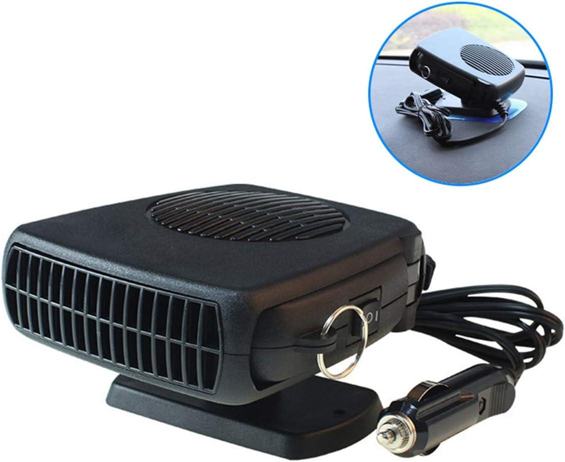 Wonepic Calentador Portátil Automóvil 2 En 1 12V / 24V Ventilador Electrónico De Refrigeración Calefactor Rápido Descongelamiento Termostato Ajustable En Encendedor De Cigarrillos