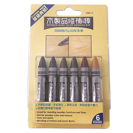 Amazon Com 6 Colors Set Wood Floor Repair Crayons Scratch Repair