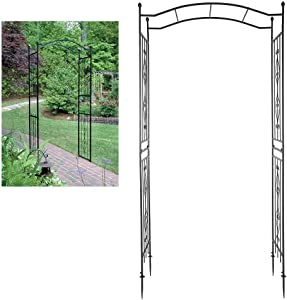 POCREATION Gardening Climbing Plants Arch Stand, Walkway Arches Pergola Arch Party Decoration for Outdoor Garden Lawn Backyard Patio, Wedding 90.6X 43.3X 17.3in