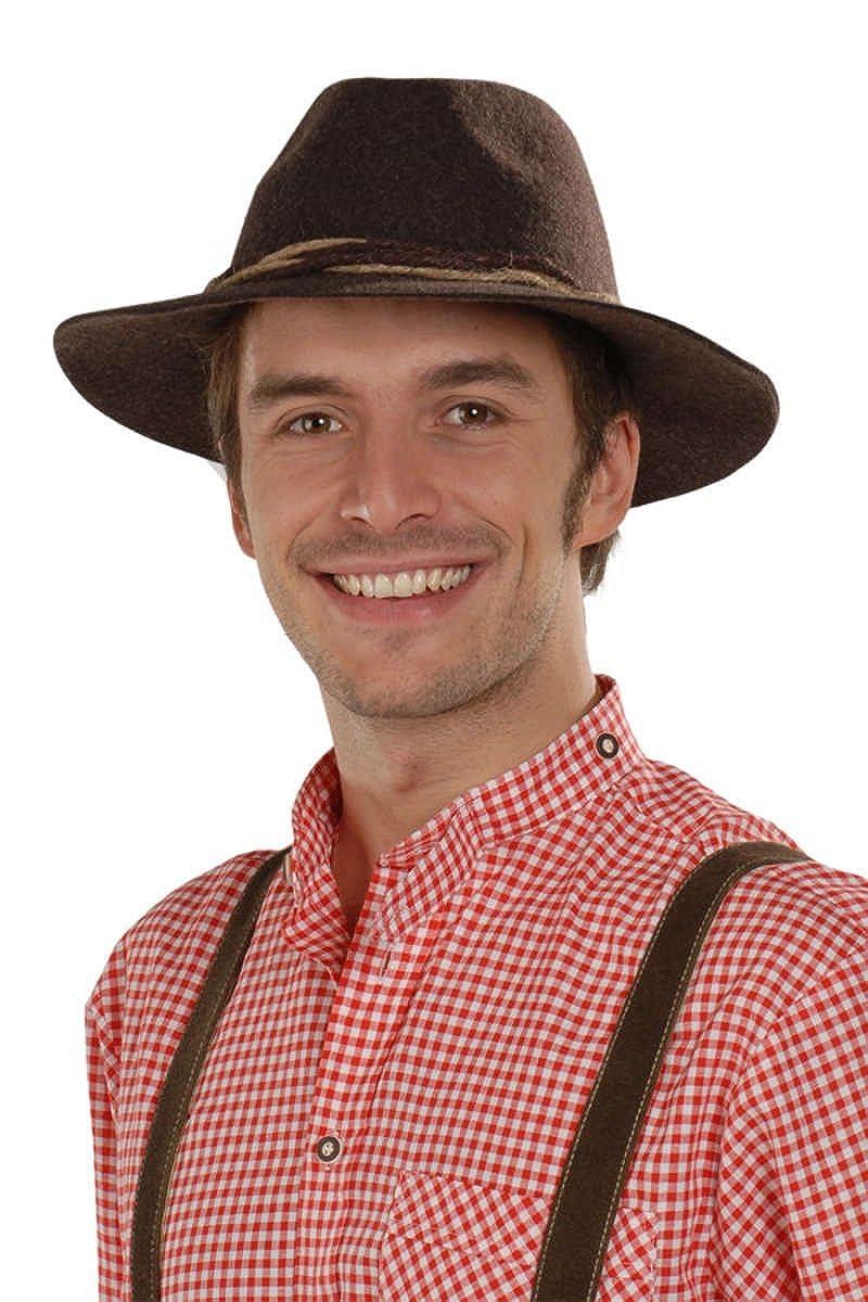 Faustmann Hüte Herren Tiroler Hut braun 'Willi', braun, 96 636