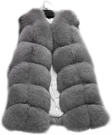 Women Real Fox Fur Gilet Winter Warm Vest Chic Waistcoat Outdoor Sleeveless New