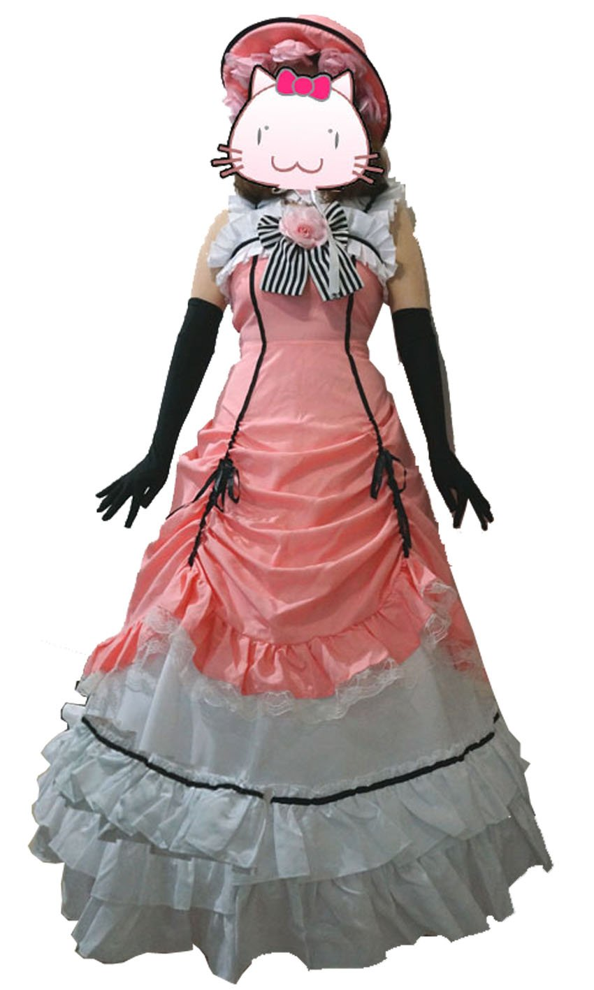 fantasycart Brand New Kuroshitsuji Black Butler CIEL Phantomhive Cosplay Costume Set Pink (S)