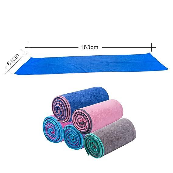 ZODIC Yoga Mat Towel Non-slip Pilates Towel with Super ...