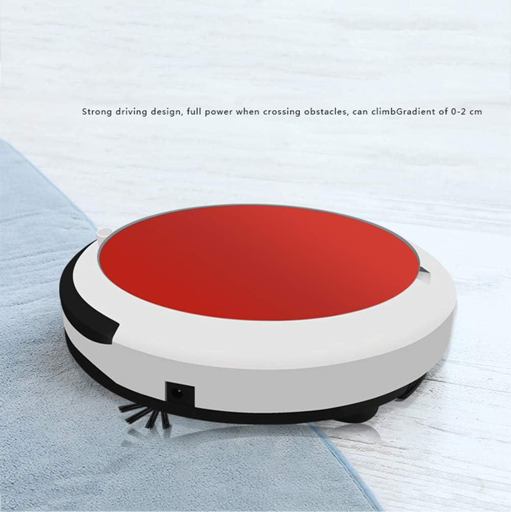 LXYDD Aspirateur Robot, 2400Mah 1800 Pa Forte Aspiration dans Le Sol,Rouge Red