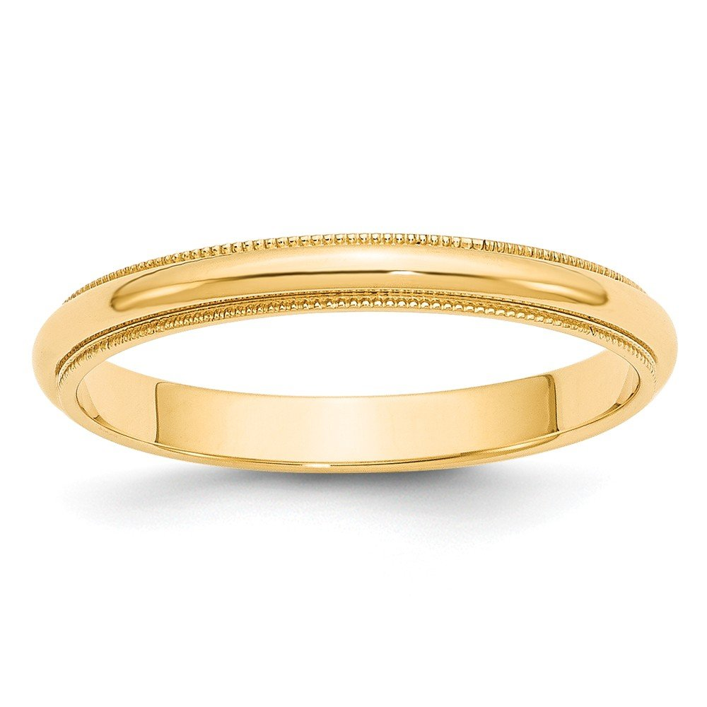 Best Designer Jewelry 14k 3mm Milgrain Half-Round Wedding Band by Jewelry Brothers Rings