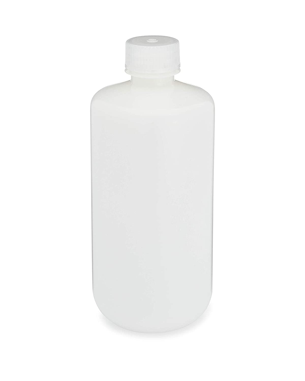 12//Pack labForce 1155L38 Bottle Narrow Mouth Boston Round HDPE with PP Closure 500mL