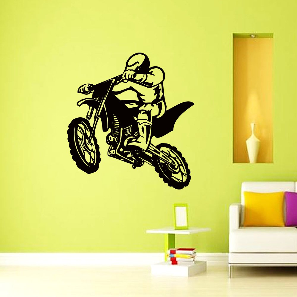 Amazon.com: Vinyl Wall Decals Motocross Motorcycle Moto Dirty Bike ...