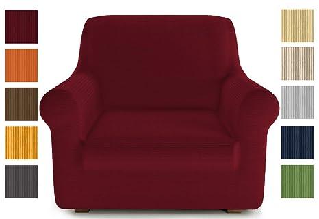 PETTI Artigiani Italiani Rojo, Sofa Elasticas, Fundas para Sillones, 100% Made in Italy, Tela Lineal, (80 a 120 cm)