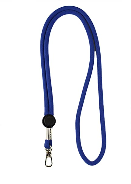 cosanter cordones cuerda de poliéster algodón llavero redondo Llaveros soporte para teléfono tarjetas de cámaras azul